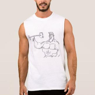 ボディービルダーは自慢して見せます 袖なしシャツ