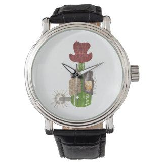 ボトルのカウボーイの腕時計 腕時計