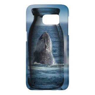 ボトルのユニークなSamsung S7の電話箱のクジラ Samsung Galaxy S7 ケース