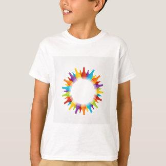 ボトルの多彩な構成が付いているデザインの要素 Tシャツ