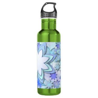 ボトルの抽象的なはすの花 ウォーターボトル