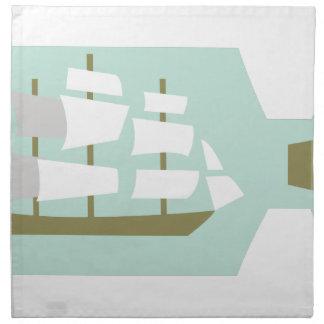 ボトルの船 ナプキンクロス