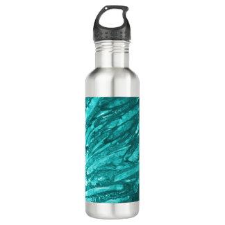 ボトルコレクション-ティール(緑がかった色)の抽象芸術 ウォーターボトル