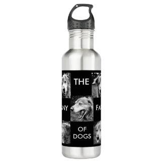 ボトルコレクション-犬の多くの顔 ウォーターボトル