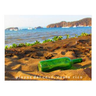 ボトルPlayas del Coco、コスタリカのメッセージ ポストカード