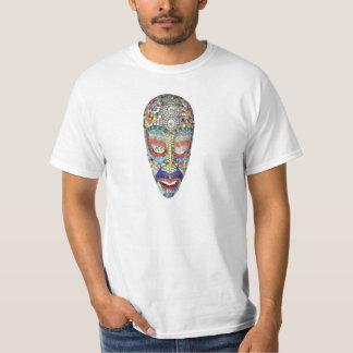 ボブのなぜ長い顔か。 モザイクマスク Tシャツ