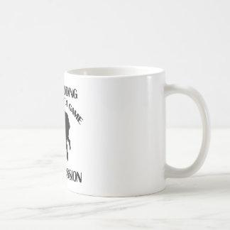 ボブスレーに乗るスポーツのデザイン コーヒーマグカップ