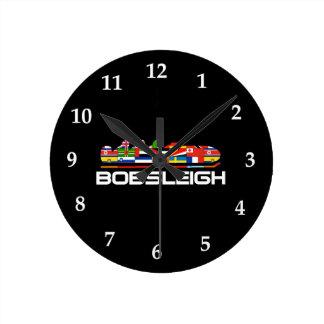 ボブスレー ラウンド壁時計
