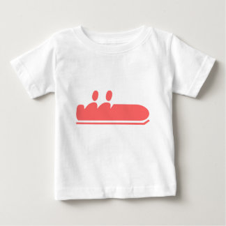 ボブスレー-熱帯ピンク ベビーTシャツ