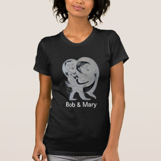 ボブ及びメリー風刺漫画の無限愛 Tシャツ