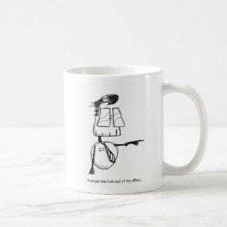 ボブ「GTFO」のマグ(左利きの) コーヒーマグカップ