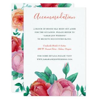 ボヘミアのはっきりしたな花の結婚式の情報カード カード