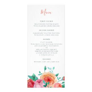 ボヘミアのはっきりしたな花の結婚式メニュー ラックカード