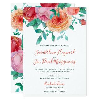 ボヘミアのはっきりしたな花の結婚式招待状 カード