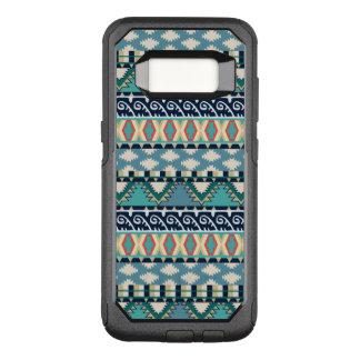 ボヘミアのターコイズはヴィンテージの種族の幾何学的振ります オッターボックスコミューターSamsung GALAXY S8 ケース