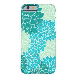 ボヘミアのティール(緑がかった色)の水の青緑の花柄のiPhone6ケース Barely There iPhone 6 ケース