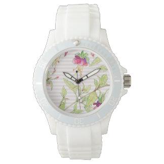 ボヘミアのバラ園|の花のスポーティなケイ素の腕時計 腕時計