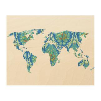 ボヘミアのパターン(の模様が)あるな世界地図|の声明|木 ウッドウォールアート