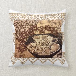 ボヘミアのヴィンテージのコーヒー枕 クッション