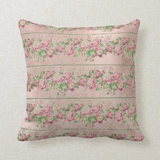 ボヘミアのヴィンテージの英国のバラのミントのピンクの花 クッション