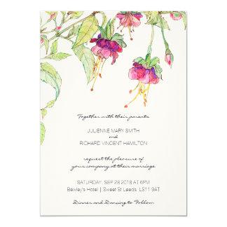 ボヘミアの庭|の花柄の結婚式招待状 12.7 X 17.8 インビテーションカード