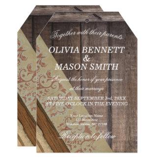 ボヘミアの木製の結婚式の招待状 カード