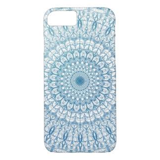 ボヘミアの空および青緑のフラクタルデザイン iPhone 8/7ケース