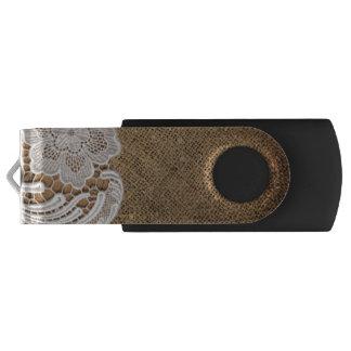 ボヘミアの素朴な西欧諸国のバーラップおよびレース USBフラッシュドライブ