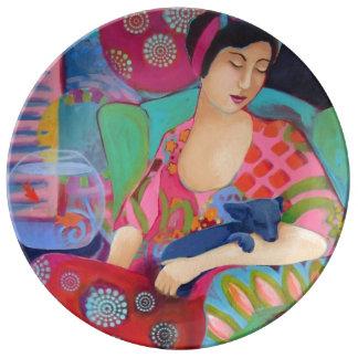 ボヘミアの美しいの磁器皿 磁器プレート