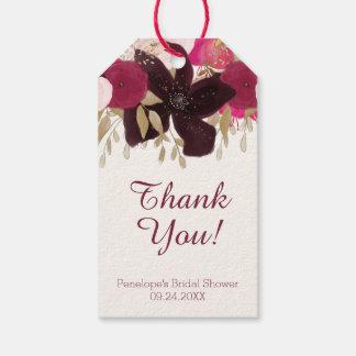 ボヘミアの花のブライダルシャワーはメッセージカード感謝していしています ギフトタグ