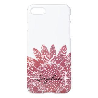 ボヘミアの花のペイズリーの粋な落書きパターン iPhone 8/7 ケース