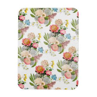ボヘミアの花のロマンチックなパターン マグネット