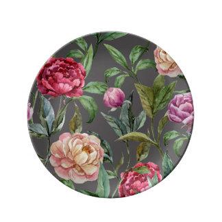 ボヘミアの花の装飾的な磁器皿 磁器プレート