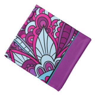 ボヘミア人、紫色および青 バンダナ