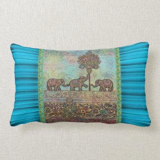 ボヘミア象の枕 ランバークッション
