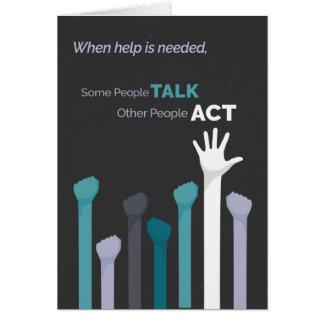 ボランティアの感謝-何人かの人々話、他の人々 カード