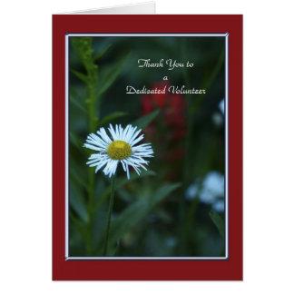 ボランティアの挨拶状の白い花にありがとう カード