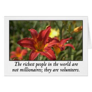 ボランティアは世界の最も豊富な人々です カード