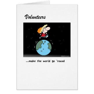 ボランティアは世界を行かせます! カード