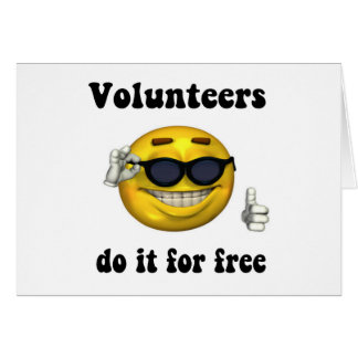 ボランティアは自由のためのそれをします カード