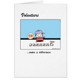 ボランティアは違いを生じます カード