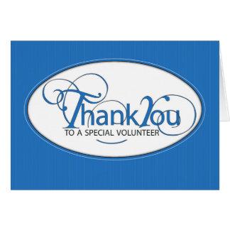 ボランティアは青い原稿感謝していしています カード