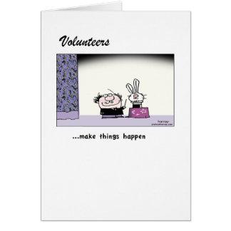 ボランティアは魔法を起こらせます! 挨拶状 カード