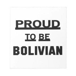 ボリビアがあること誇りを持った ノートパッド