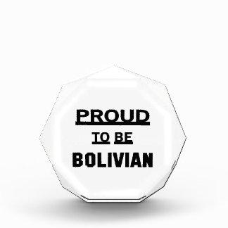 ボリビアがあること誇りを持った 表彰盾