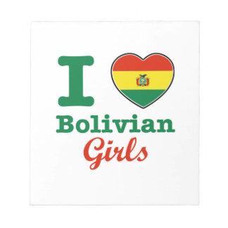 ボリビアのデザイン ノートパッド