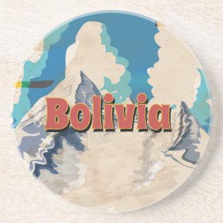 ボリビアのヴィンテージ旅行ポスター コースター
