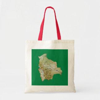 ボリビアの地図のバッグ トートバッグ
