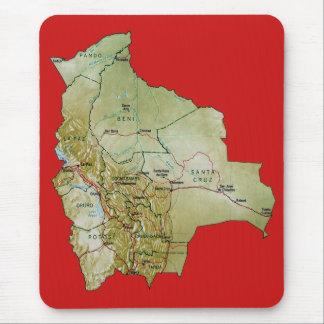 ボリビアの地図のマウスパッド マウスパッド