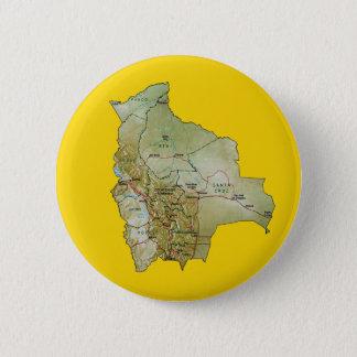 ボリビアの地図ボタン 5.7CM 丸型バッジ